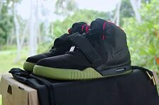 "NIKE AIR YEEZY 2 NRG BLACK SOLAR RED SIZE 9.5US  ""SEE DESCRIPTION"""