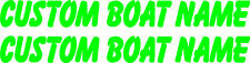 Custom Personalised Boat Name Sticker Decal Set of 2 - 1000mm each