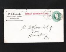 WH Piper Co Philadelphia Sonman Bituminous Coal circa 1880s Target #3 z72