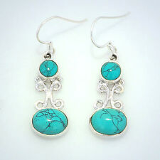 Dreamy Turquoise Earrings set in Sterling Silver