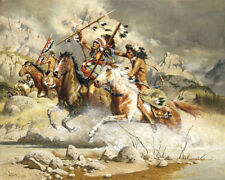 """""""Cheyenne"""" Frank McCarthy Western Indian Art Canvas"""