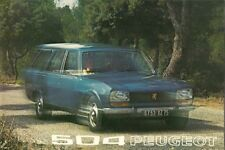 Peugeot 504 Estate & Family 1972-73 UK Market Sales Brochure