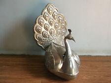 Old vintage beautiful peacock shape beetle nut brass pandan box of 60's, (Rare).