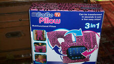 As seen on TV GOGO Pillow PINK Plush Travel  iPad Tablet Case Stand Neck Roll