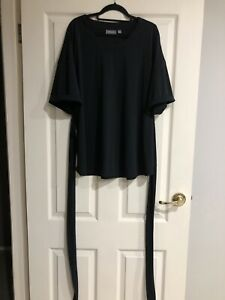 Sussan Black Top With Tie Waist Detail Size Large New With Tags