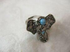 Silver tone Ring Elephant Head