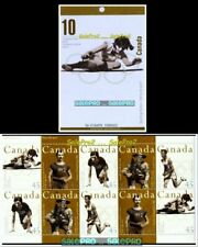 CANADA 1996 CANADIAN OLYMPIC GOLD MEDAL HEROES FACE $4.50 MNH STAMP BOOKLET SET