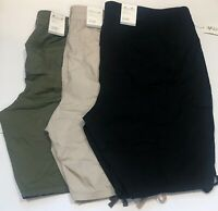 Style&Co Women's Bermuda Cargo Shorts, Black/Beige/Green Plus Sizes 18W/22W/24W