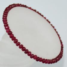 "2x4mm Faceted Brazil Ruby Roundlle Gemstone Bracelets 7.5"""