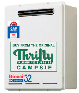 Rinnai Infinity 32 Continuous Flow Hot Water Heater 50° or 60° Preset