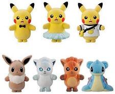Bandai Pokemon Poke Mofu Doll 4 Complete 7 kinds set Flocked Plush Doll toy NEW