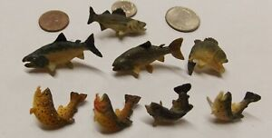 Antler Art Hand Painted Fish Hat or Lapel Pin Bass, Trout, Salmon etc .