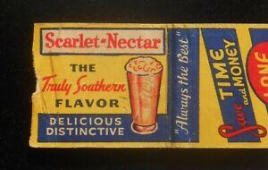 1940s Lane Drug Scarlet-Nectar Key West FL Monroe Co Matchbook Florida