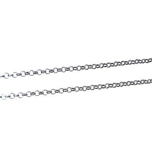 2, 5 or 10m Antique Silver Iron Rolo Belcher Chain 3x1mm Nickel Free