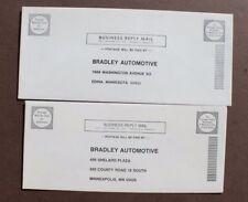 Vtg LOT 2 Company Printed Bradley GT Addressed Envelopes Advertising Brochure
