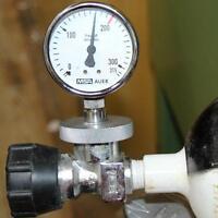 Prüf u. Messgerät Manometer für Druckluftflaschen, Atemluftflasche, Tauchflasche