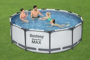Bestway Pool Frame Steel Pro Max Komplett-Set 366x100 cm Neu + Leiter Neu