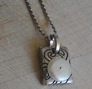 Lisa Jenks Pearl pendent necklace Unique!