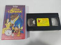 LA BELLA Y LA BESTIA VHS LOS CLASICOS DE WALT DISNEY BEAUTY AND THE BEAST ESPAÑA