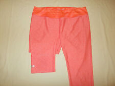 UNDER ARMOUR HEAT GEAR HEATHER ORANGE FITTED CAPRI PANTS WOMENS XL EXCELLENT