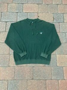 VINTAGE Big Dogs Sweater Adult Small Green Classic 90s Logo Pullover Cardigan