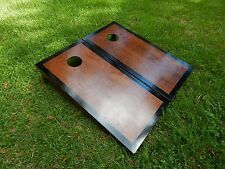 Regulation Black Border English Chestnut Cornhole Boards/ Bags Not Included
