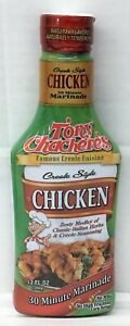 Tony Chachere's Creole Style Chicken 30 Minute Marinade 12 oz