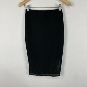 Kookai Womens Skirt Size 1 Black Bodycon Elastic Waist Stretch 51.33