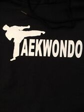 Hoodie Tae Kwon Do Taekwondo Men's Black Martial Arts Sweat Shirt 2XL Korean