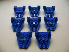 Lego 8 petits cockpits bleus set 2928 5987 8093 6135 / 8 blue wedge inverted