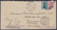 1922 Egypt,Alexandria: Zurich(transit)redirect Herdern,Thurgau (B/S),Switzerland