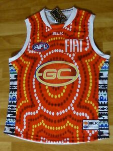AFL 2015 Gold Coast Suns Indigenous Guernsey Size:M  BNWT