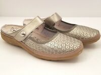 Spring Step Tirrana Gold Leather Slip On Comfort Shoes Womens Size 10