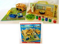 1978-79 & 89 Vintage Fisher-Price PLAY FAMILY NURSERY SCHOOL 929: COMPLETE w/BOX