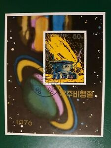 Korea - 1976 - space travel -  mini/ souvenir sheet