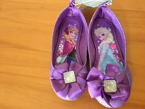 NWT Disney Store Frozen Elsa and Anna Toddler Girl Shoes Purple shoes