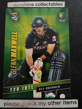 2015/16 TAP N PLAY CRICKET BASE CARD NO.40 GLENN MAXWELL T20