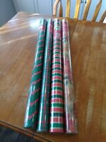 Lot of 4 large Vintage Rolls  Christmas Wrapping Paper New  SEALED