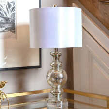 Madeline Glass & Acrylic Table Lamp (White)