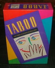 "NEW ~ ""TABOO"" ~ The Game of Unspeakable Fun ~ Milton Bradley Game~FACTORY SEALED"