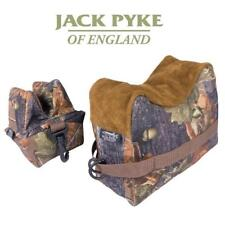 Jack Pyke Rifle Rest Set English Oak Front & Rear Bag Gun Rest Shooting Hunting