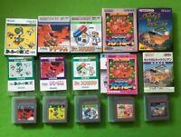 GameBoy 5 Games Set Galaga & Galaxian Dr. Mario Tetris Yoshi's Egg Kirby Block
