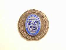 incomplete sterling silver medal or pin:  Bull Dog Club of Philadelphia 1907