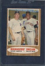 1962 Topps #018 Mickey Mantle Willie Mays VG 62T18-43116-1