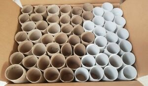 60 Empty Toilet Paper Rolls Cardboard Tubes for Crafts Seeds Project Clean Used