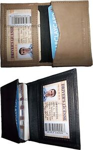 2 women men's Leather Business Credit Card ID card case fifty cards holder bnwt