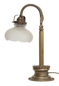 Great Art Nouveau Bankers Lamp Kontorleuchte Table Lamp Desk Brass Lamp