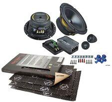 Ground Zero Lautsprecher 165mm Kompo für VW Vento 92-98 Front/Heck+StP Dämmung