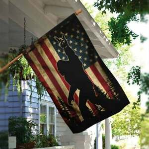 Sasquatch Bigfoot American Flag ,garden Flags,house Flag,peace Flag,rustic Count