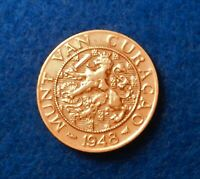 1948 Curacao 2 1/2 Cents - Nice Older Coin - See PICS